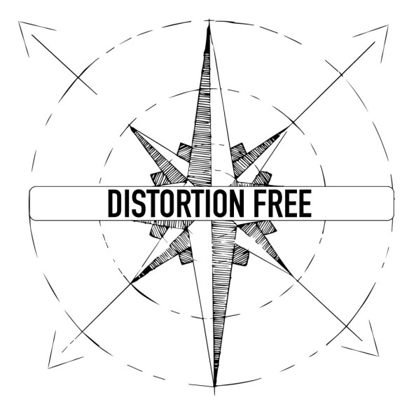 Distortion free logo